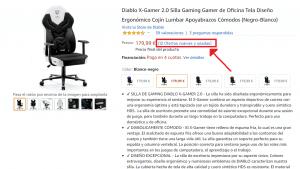 diablo x gamer 2.0 segunda mano